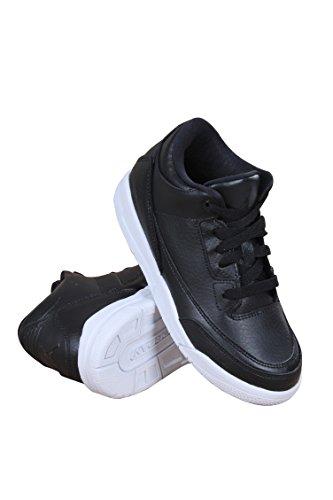 Nike 429487-020, Zapatos de Primeros Pasos para Bebés, Negro Black/White, 28.5 EU
