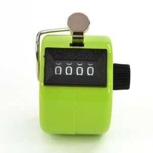 Compteur d'impulsions mécanique comptage manuel à touche 4 chiffres Vert