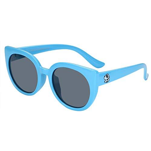 Aroncent Kinder Sonnenbrille polarisiert Brille Mädchen Jungen Sonnenbrillen 100% UV400 UVB Augenschutz Kinder Silikagel Brille
