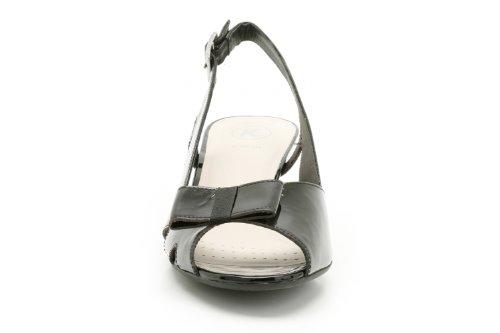 K , Sandales pour femme Beige Nude 36 Noir - Noir verni