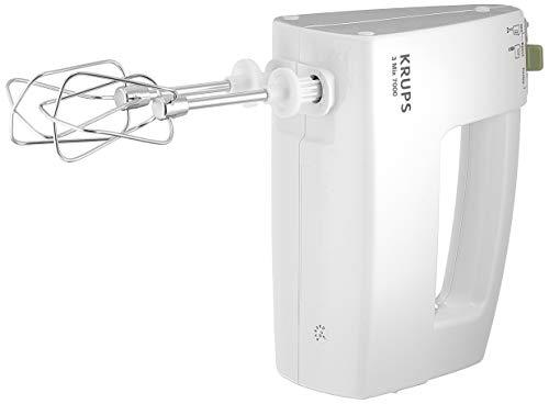 Krups F60814 Handrührgerät 3 Mix 7000 automatische Leistungsanpassung, stufenlose Geschwindigkeitsregulierung, Turbostufe, 500 W, weiß