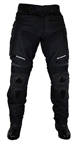 Roleff Racewear Pantaloni Moto in Tessuto/Mesh e Pelle, Nero, L