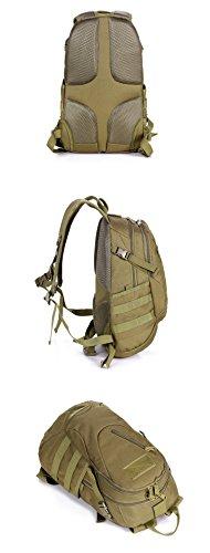 YAAGLE Bersteigen Tasche Reiten Rucksack militärische Tasche Reiserucksack A4 Schultasche 20 L Damen und Herren Unisex-schwarz Tarnung 1