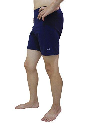 yogaaddict Herren-Yoga-Hose, dehnbar, kurze Hose, ideal für jeden Yoga-Stil und Pilates, erhältlich in 4Größen (S, M, L, XL), Premium-Qualität Größe L marineblau