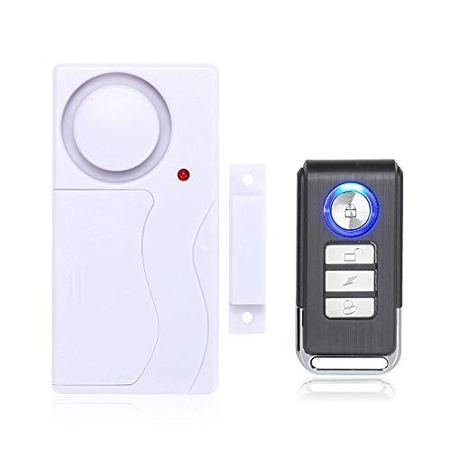 Mengshen Tür- und Fensteralarm, Diebstahlalarm Mit Fernbedienung Für Die Sicherheit Zu Hause, 105 db Super Laut (EinschließLich 1 Alarm Und 1 Fernbedienung)