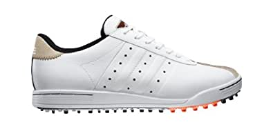 Adidas Adicross II Chaussures de golf - - White/Tan Brown/Energy, 41 (7.5 UK)