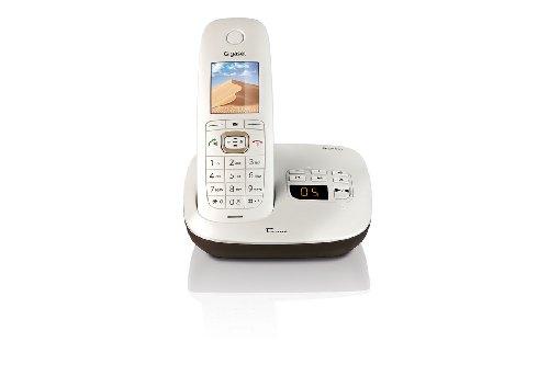 Gigaset CL540A Dune Telefon – Schnurlostelefon / Mobilteil – mit TFT-Farbdisplay – Anrufbeantworter – Freisprechen / Designtelefon – perlmutt