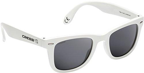 Cressi occhiali da sole di alta qualità lenti con filtro solare antiriflesso e protezione 100% raggi uv - tortuga - bianco/grigio
