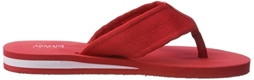 Armani Jeans 9350937p447, Tongs homme Rot (red 1463)