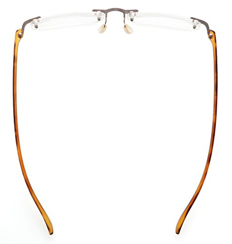 Eyekepper Lunettes de lecture / de Vue en acier inoxydable verre Acrylique Leger pour homme femme tortue