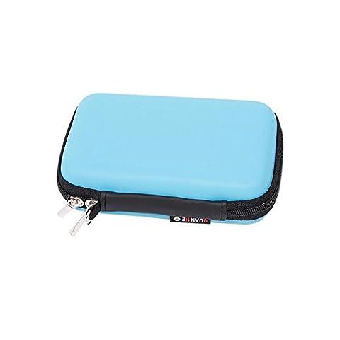 [Housse Etui D'impression HP Sprocket] -TaiYaun étui pour imprimé pour téléphone portable pour HP Sprocket Print Special Leather Holster Protection Package (Bleu)