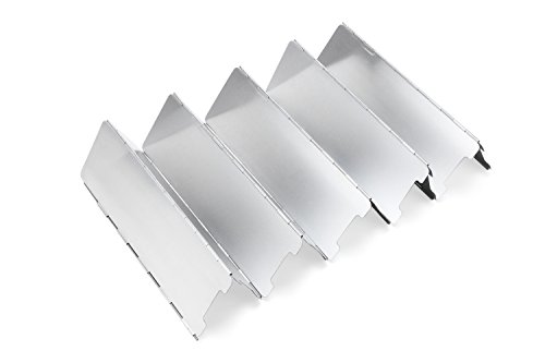 31XzRxnBGiL - Diswoe Camp Stove Windshield 10 Plates Aluminium Windscreen for BBQ Picnic Camping Equipment