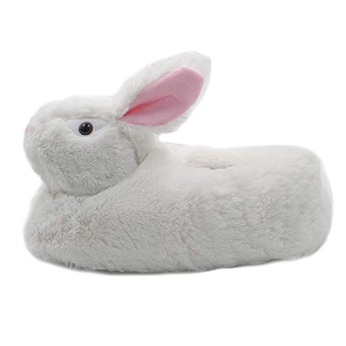 Millffy Classic Bunny Slippers - Adult Sized Plush Animal Slippers Toddlers Costume Footwear