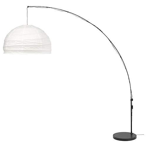 IKEA REGOLIT Standleuchte in weiß und schwarz; bogenförmig -