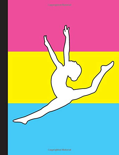 Gymnastics Pansexual Flag - Wide Ruled Lined Composition Book: Lined Notebook for Gymnasts For School and Work por Got Pride
