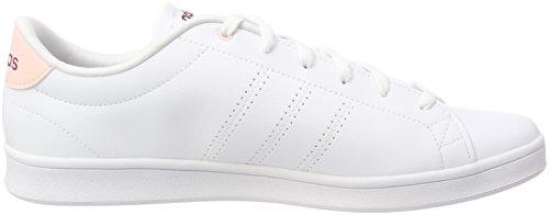 Adidas Advantage Cl Qt W, Scarpe Da Fitness Donna Bianco (calzado Blanco / Calzado Blanco / Misterio Ruby)