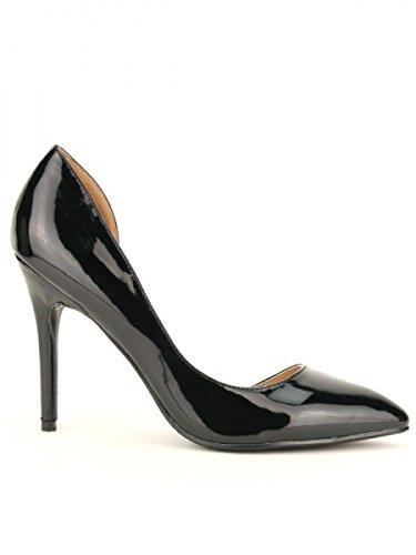 Cendriyon, Escarpin verni noir FELLING Mode Chaussures Femme Noir