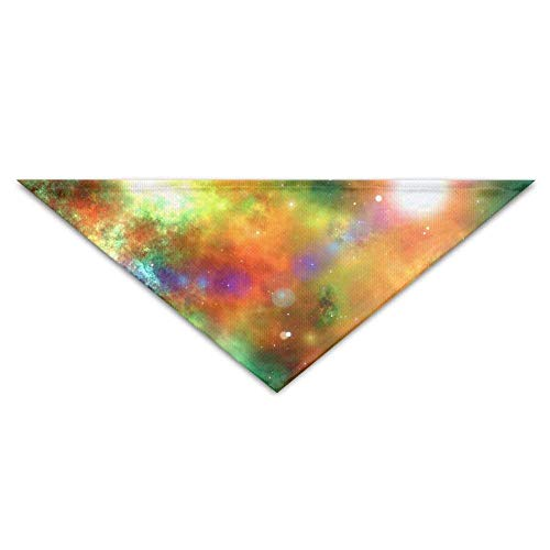 Gxdchfj Beautiful Galaxies Triangle Pet Scarf Dog Bandana Pet Collars Dog Cat - Birthday