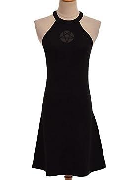 GRACEART Gótico Negro Cruzar Bodycon Vestir