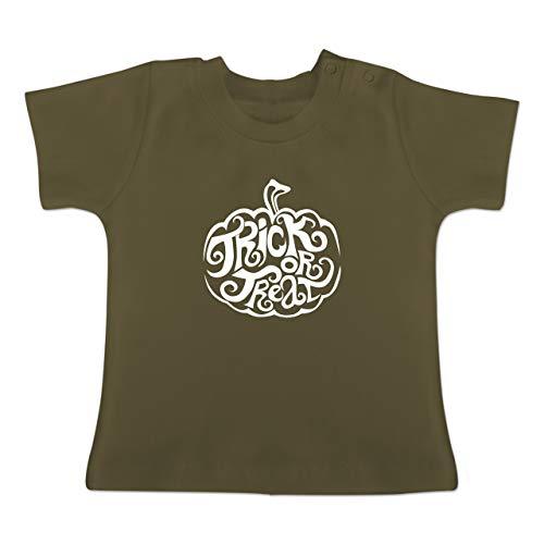 Anlässe Baby - Trick or Treat - 3-6 Monate - Olivgrün - BZ02 - Baby T-Shirt Kurzarm