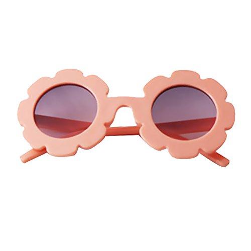 Unbekannt Kind Kinder Junge Mädchen UV400 Outdoor Sonnenbrille Baby Blume Shades - Pink