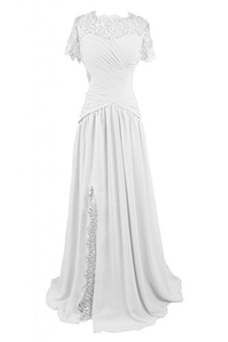 Sunvary lungo elegante gioiello in raso abito da sera sera Mother's Dress White