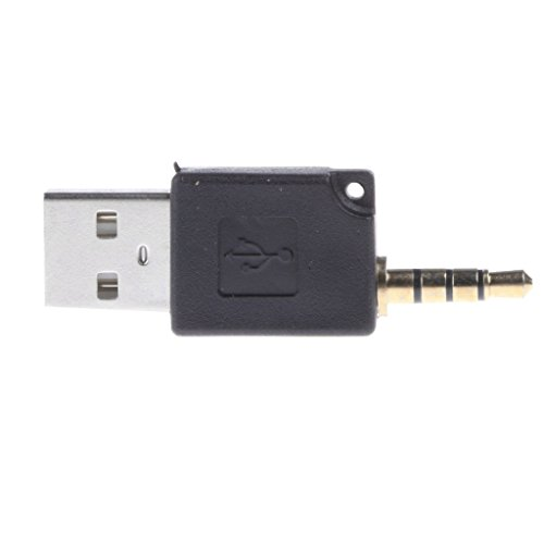 kokiya Tragbarer USB 2.0 Auf 3,5 Mm Adapter Für Apple IPod Shuffle 1st 2nd Generation - Schwarz (Schwarz Apple Ipod Shuffle)