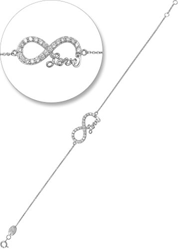 daily-yasmin-love-infinity-bracelet-silver-and-white