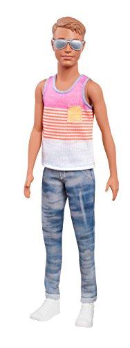 Mattel Barbie FNH43 - Ken Fashionistas Puppe in Streifenshirt mit Sonnenbrille