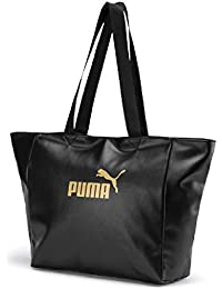 55dcc4934c PUMA Wmn Core Up Large Shopper, Borsa a Tracolla Donna, Black-Gold,