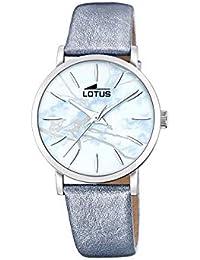 230f10e6e8d3 Lotus Trendy - Reloj para Mujer Cuarzo Esfera Azul Correa de Piel Azul  18667 3