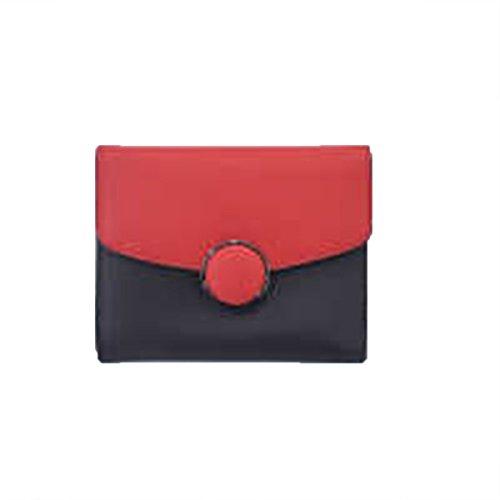 WU Zhi Lady In Pelle Colori Misti Portafoglio Red