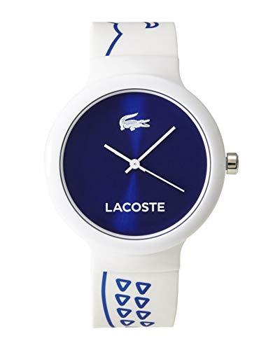 Montre Mixte Lacoste Quartz - Affichage Analogique Bracelet Silicone Blanc et Cadran Bleu 2020094