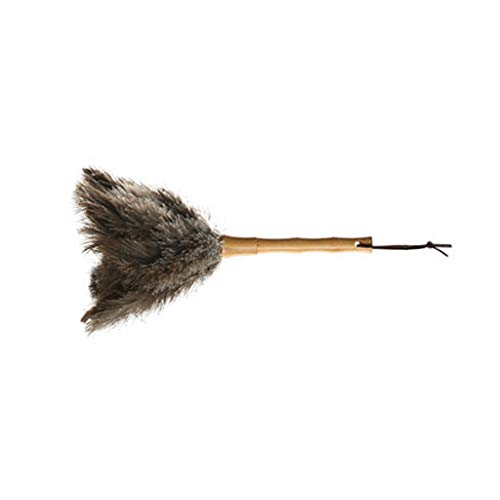 Zhangy trucco di piume di struzzo/accessori di ruolo/puntelli polvere di scorpione di lana manico in legno per pulire l'asino,16cm