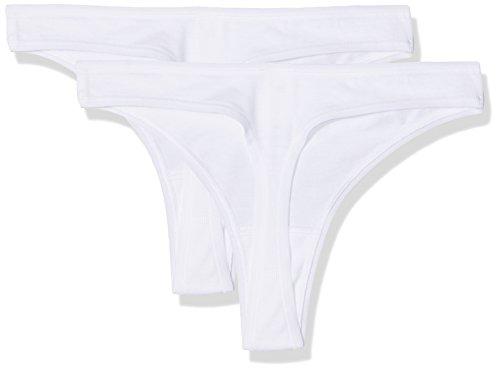 Skiny Damen String 2-er Pack, SKINY Advantage Cotton Women / 2652 Da. String D White
