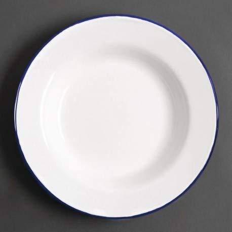 Olympia gm513 émail Assiette à Soupe, 245 mm (Lot de 6)