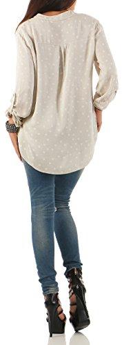malito Blouse sous Étoile-Design avec V-Découpure 6365 Femme Taille Unique Beige