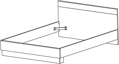 13Casa - Cooper A5 - Struttura letto piazza e mezza. Dim: 144,5x193,5x71,8 h cm. Col: Rovere scuro, Grigio. M