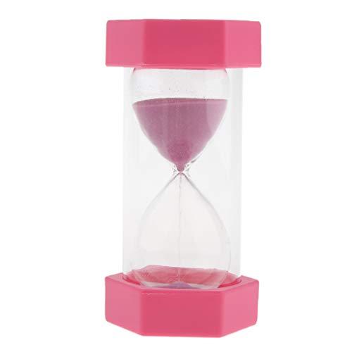 B Blesiya Sanduhr Stundenglas 10 Minuten Timer Schule Sand Uhr Klassenzimmer Büro Schreibtisch Dekor - Rosa