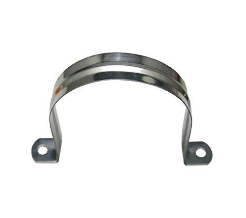 Amanaote Edelstahl 8,1cm Durchmesser Tube Gurt Tension Clip Rohr-Klemme Aufhänger-Klemme Aufhänger (Pack von 6Sets) (Pipe Hanger 6)