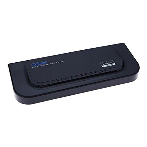 Odoga® USB 3.0 Dual Display Dockingstation mit vollem HDMI & DVI-Support, 2 USB 3.0 Ports & 4 USB 2.0 ports, Gigabit Ethernet, Audio socket - Kompatibel mit Windows 8, 7, Vista, XP und Mac OS.