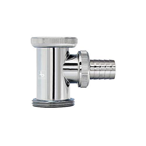 Siphon Adapter | Abfluss Zwischenstück · Anschluss · Für Röhren- und Flaschensiphons · verchromt | Burgtal 17592 (Waschmaschine, Waschbecken)