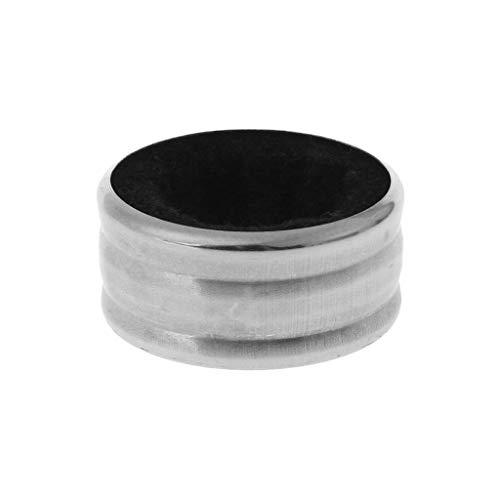 SimpleLife Praktische Edelstahl Rotweinflasche Tropf Drop Proof Stop Ring Bar Werkzeuge Schwarz, 3,7 cm x 2 cm