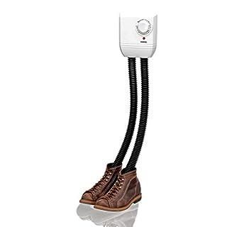 Melissa Schuhtrockner elektrisch, Schuhwärmer für Stiefel, Gummistiefel und Handschuhe, Trockner für Wanderschuhe oder auch Skischuhe, Heizung mit Gebläse und Zeitschaltuhr für 1 Paar Schuhe