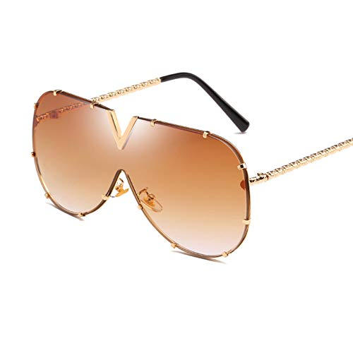 Wenkang Fashion Designer Sunglasses Women Men Metal Frame Oversized Sun Glasses Uv400 Sunglasses Mirror Eyewear Shades,3