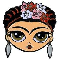 """Evilkid Frida, Officially Licensed Original Artwork, Expertly Designed Enamel Pin - 1.25"""""""