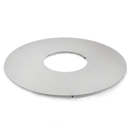 BBQ-Toro Edelstahl Grillplatte | Feuerplatte Ø 55 cm | Barbecue Plancha, Grillring, rund, passend für 57er Weber Kugelgrill und mehr