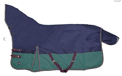 Weidedecke Fullneck 400gr. Wattefüllung dunkelblau/dunkelgrün (165)