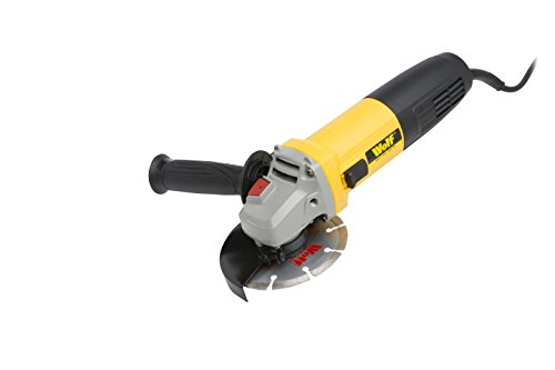 Wolf Angle Grinder 115mm 850W with Diamond Disc for Cutting & Grinding Masonry, Concrete & Steel - 2 Year Warranty