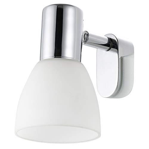 EGLO Spiegelleuchte Stahl E14, Weiß/Chrom 7 x 9.5 x 11.5 cm